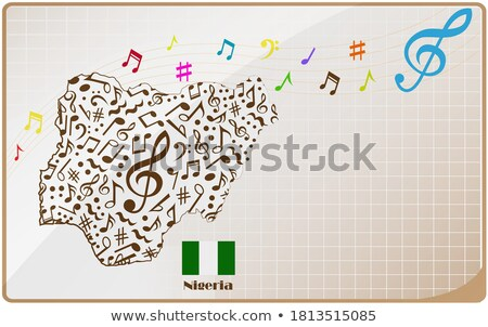 Keret sablon hangjegyek zászlók illusztráció háttér Stock fotó © bluering