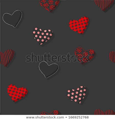 St Valentines day knitted heart seamless pattern. Knit texture background. vector illustration Stock photo © carodi