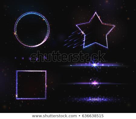 violeta · natal · noite · alcance · floresta · casa - foto stock © beholdereye