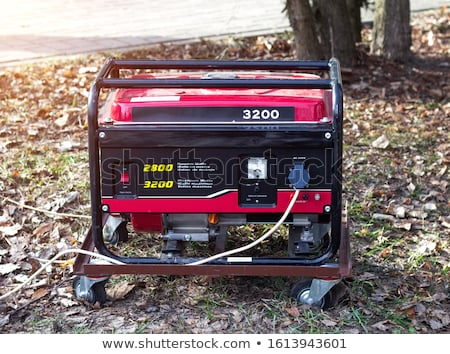 Moderno vermelho gasolina gerador elétrico lado Foto stock © ozgur