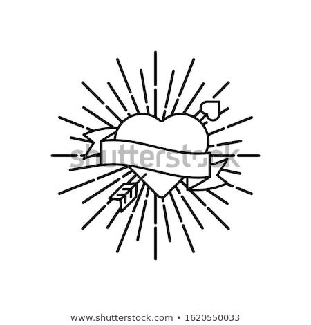 coração · alvo · seta · estilizado · objeto · longo - foto stock © orson