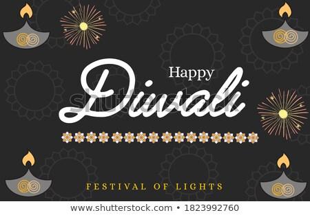 Luxe diwali groet festival banner poster Stockfoto © SArts