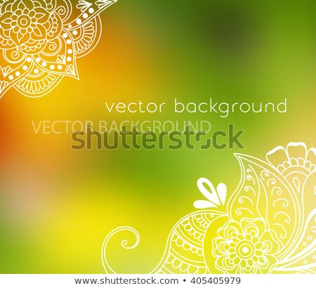 vintage henna mehndi background Stock photo © SArts