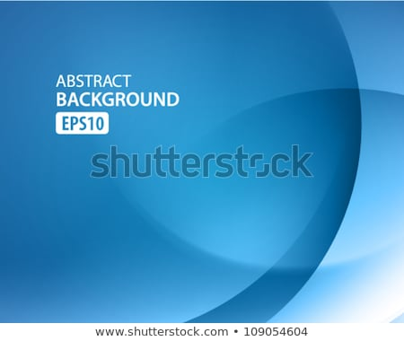 Smooth light blue waves lines and Lens Flares vector abstract background. Stock photo © fresh_5265954