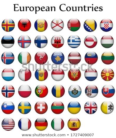 ストックフォト: 実例 · eu · フラグ · スペイン · 孤立した · 白