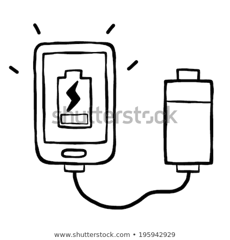Illustration of Powerbank charging smartphone isolated white Stock photo © tussik