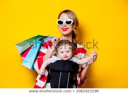 матери · ребенка · магазин · девушки · стороны · лице - Сток-фото © adrenalina