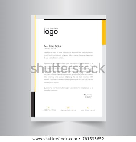 Abstrakten farbenreich Briefkopf Design-Vorlage Unternehmen drucken Stock foto © SArts