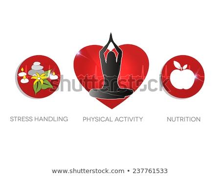 tevékenység · egészséges · étrend · szívbetegség · szimbólumok · szívverés · vonal - stock fotó © tefi