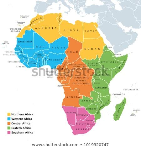 Harita Afrika örnek dünya sanat seyahat Stok fotoğraf © sdCrea