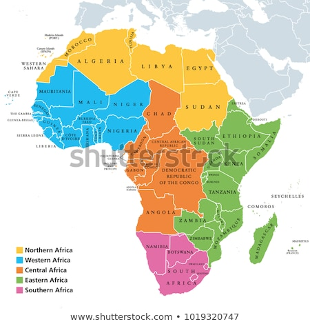 map of africa stock photo © sdcrea