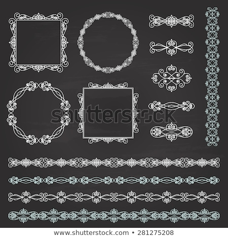 Decorative calligraphic dividers on a chalkboard background- vector set for design and page decorati Stock photo © blue-pen