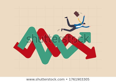 up and down business arrow chart stock photo © alexmillos