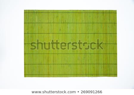 green bamboo table mat Stock photo © Digifoodstock