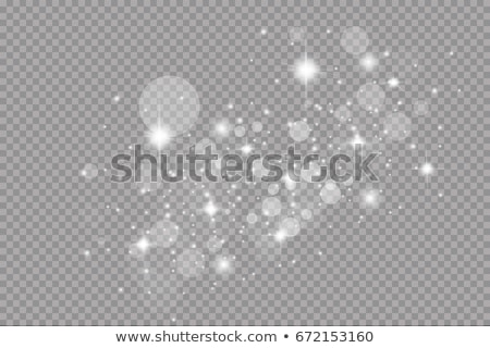 set of golden stars transparent light effect background Stock photo © SArts