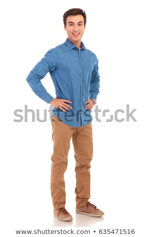 full body picture of a  man with hands on waist Stock photo © feedough