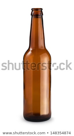 Beer in bottle with bottle opener and glass. Clipping path. Stock photo © borysshevchuk