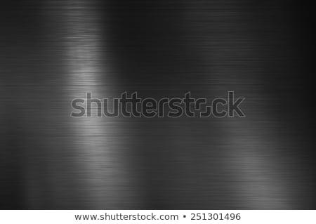 Stainless steel brushed metal background, aluminum texture, blac Stock photo © kurkalukas