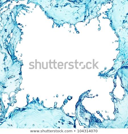 Water Splash Border Stock photo © cosma