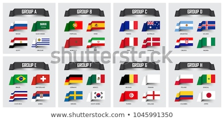 Football Russia 2018 with stripes Stock photo © Oakozhan