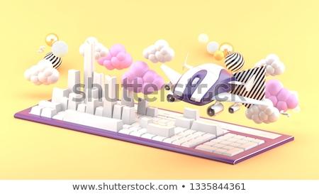 キーボード · 青 · キーパッド · アプリケーション · 3D · 白 - ストックフォト © tashatuvango
