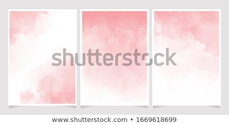Akwarela różowy plama tekstury wody papieru Zdjęcia stock © SArts