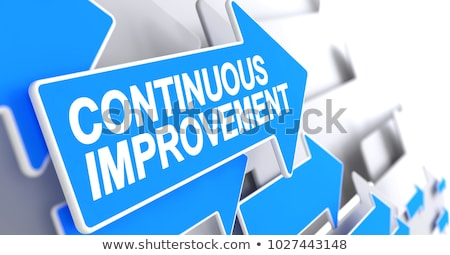 Stock photo: Training Development - Inscription on the Blue Pointer. 3D.