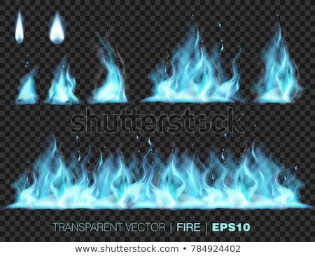 Blau Feuer dunkel Computer Technologie Rauch Stock foto © zven0