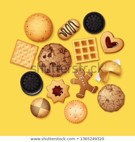 Cracker In Different Shapes. Yellow Cookie Vector. Stock photo © pikepicture