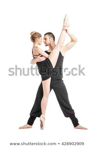 flexible ballet dancer in split with her partner stock photo © julenochek