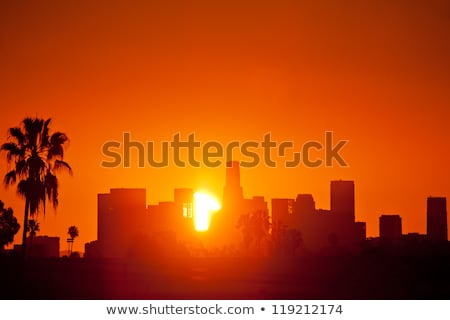 Los · Angeles · centrum · zonsondergang · luchtfoto · Californië · USA - stockfoto © asturianu