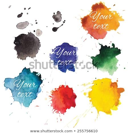 abstract · illustrazione · colorato · vernice · frame · divertimento - foto d'archivio © sarts