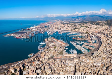 Port of Genoa - panoramic view Stock photo © benkrut