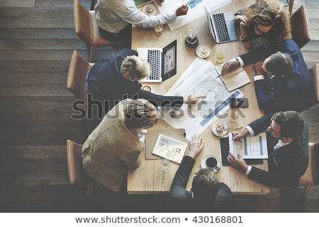 Business analysis and coffee Stock photo © wdnetstudio