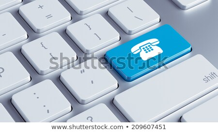 Stock photo: Keyboard with Blue Button - App. 3D.