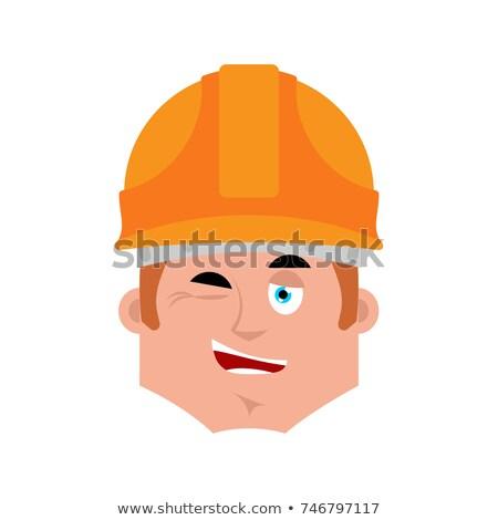 építész kacsintás érzelem avatar munkás boldog Stock fotó © popaukropa