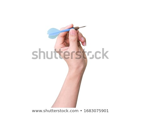 Male holding dart Stock photo © IS2