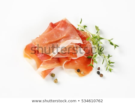 Aria essiccati prosciutto pepe dettaglio fette Foto d'archivio © Digifoodstock