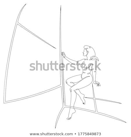 Vrouw vergadering zeil reizen leuk vrijheid Stockfoto © IS2