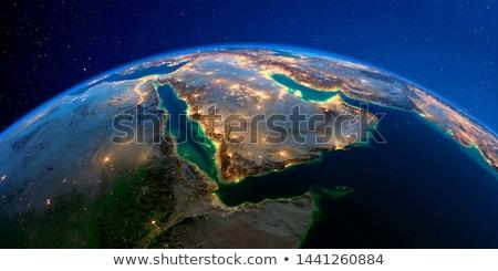 Katar 3D dünya harita bayrak 3d illustration Stok fotoğraf © Harlekino