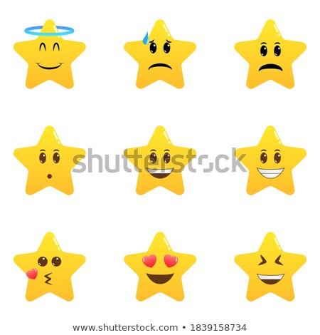 gold star emotions emoticons set isolated on white background stock photo © rogistok