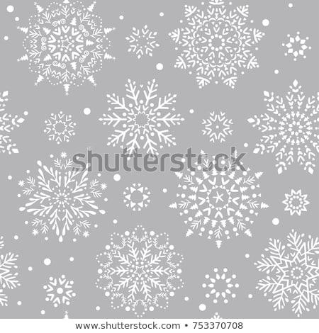 sneeuwvlokken · Blauw · kleur · heldere · decoratief - stockfoto © fresh_5265954