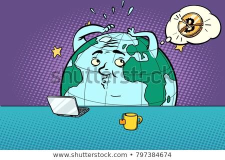 Furcsa hírek bitcoin képregény rajz pop art Stock fotó © rogistok