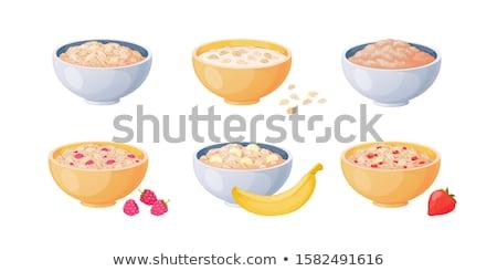 Tigela colher isolado alimentação saudável café da manhã comida Foto stock © MaryValery