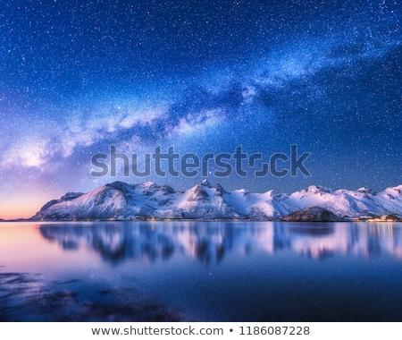 красивой зима горные пейзаж луна Сток-фото © umbertoleporini