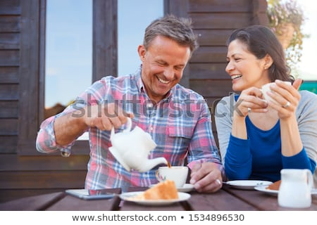 portrait of  mature couple in garden. Stock photo © IS2