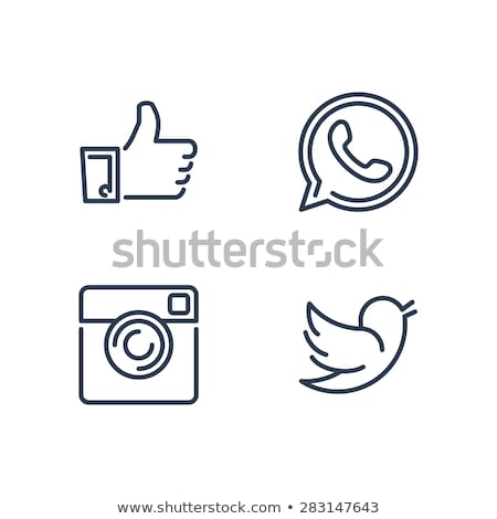 Ince hat vektör ikon yalıtılmış Stok fotoğraf © smoki
