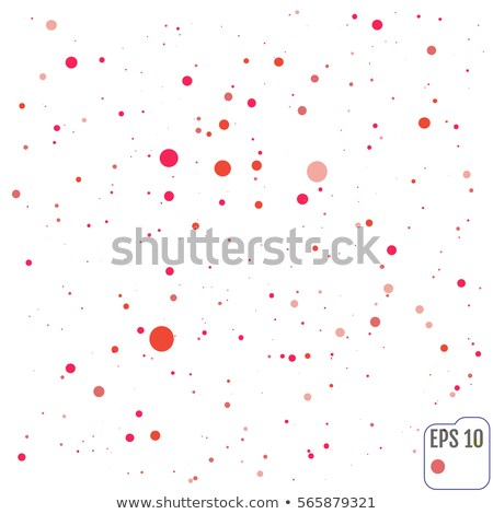 Falling glow red particles on black background. Holiday, nightclub, party card. Vector illustration Stock photo © gladiolus