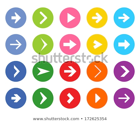 Red circle shape internet button with next sign stock photo © studioworkstock