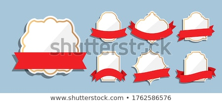 Classic red elegant ribbon isolated icon stock photo © studioworkstock